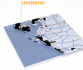 3d view of Cross Bayou