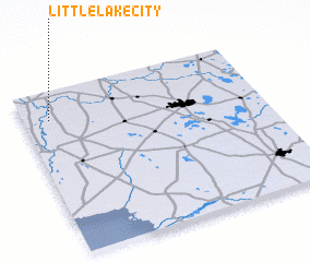 3d view of Little Lake City