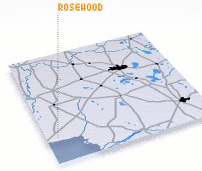 Rosewood United States Usa Map Nona Net