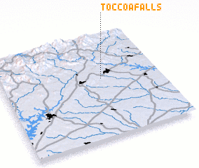 3d view of Toccoa Falls