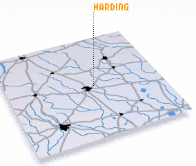 3d view of Harding