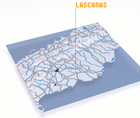 3d view of Las Canas