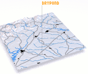 3d view of Dry Pond