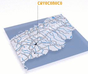 3d view of Cayo Conuco