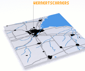 3d view of Wernerts Corners