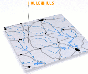 3d view of Hollow Hills