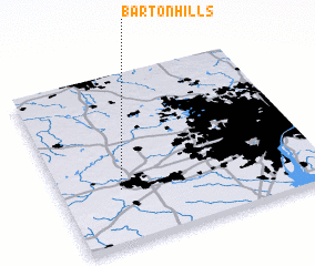 3d view of Barton Hills