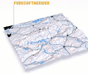 3d view of Forks of the River