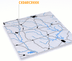 3d view of Cedar Creek