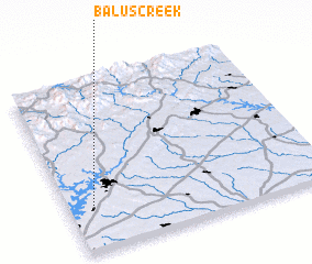 3d view of Balus Creek