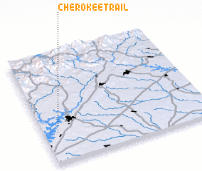 3d view of Cherokee Trail