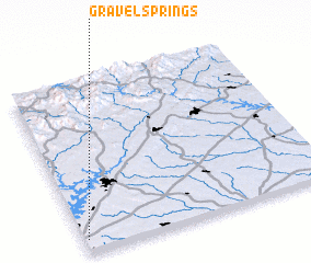 3d view of Gravel Springs