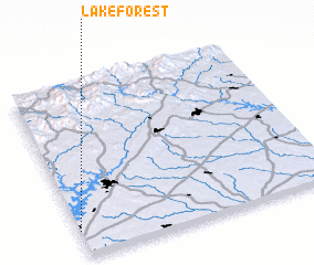 3d view of Lake Forest