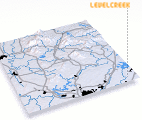 3d view of Level Creek