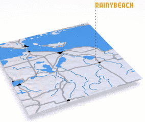 3d view of Rainy Beach