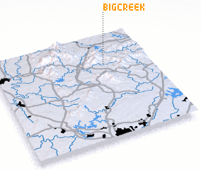 3d view of Big Creek