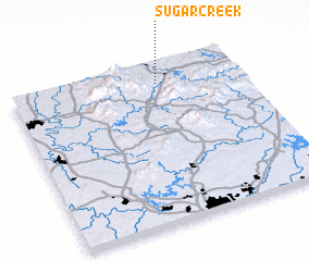 3d view of Sugar Creek
