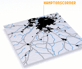3d view of Hamptons Corner