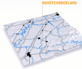 3d view of Mount Cumberland