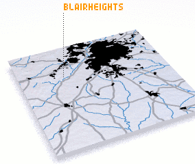 3d view of Blair Heights