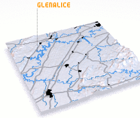 3d view of Glen Alice