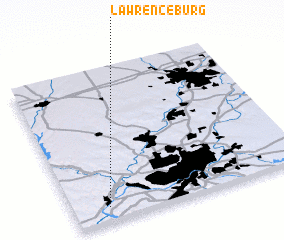 3d view of Lawrenceburg