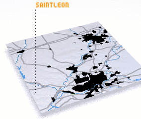 3d view of Saint Leon