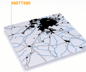 3d view of Hart Town