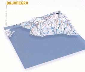 3d view of Bajo Negro