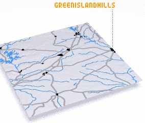 3d view of Green Island Hills