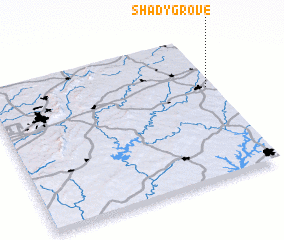 3d view of Shady Grove