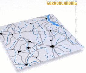 3d view of Gordon Landing
