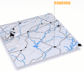 3d view of Roanoke