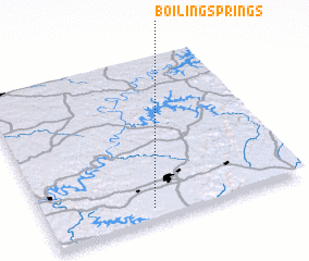 3d view of Boiling Springs