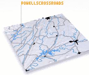 3d view of Powells Crossroads