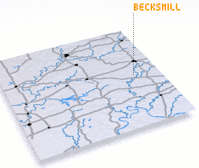 3d view of Becks Mill