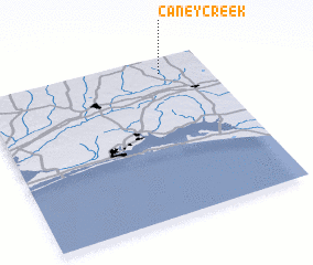 3d view of Caney Creek