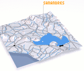3d view of San Andrés
