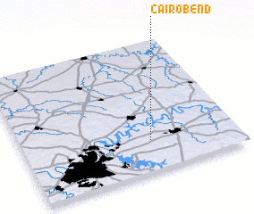 3d view of Cairo Bend
