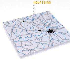 3d view of Mount Sinai