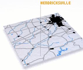 3d view of Hendricksville