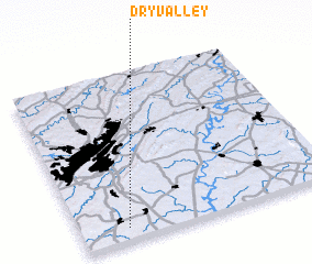 3d view of Dry Valley
