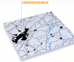 3d view of Cherokee Beach
