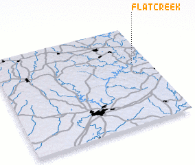 3d view of Flat Creek