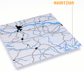 3d view of Mount Zion