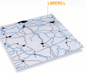 3d view of Lake Mill