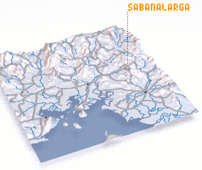 3d view of Sabana Larga