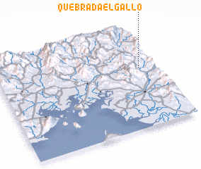 3d view of Quebrada El Gallo