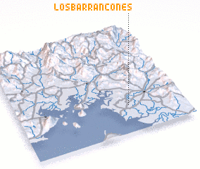 3d view of Los Barrancones