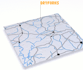 3d view of Dry Forks